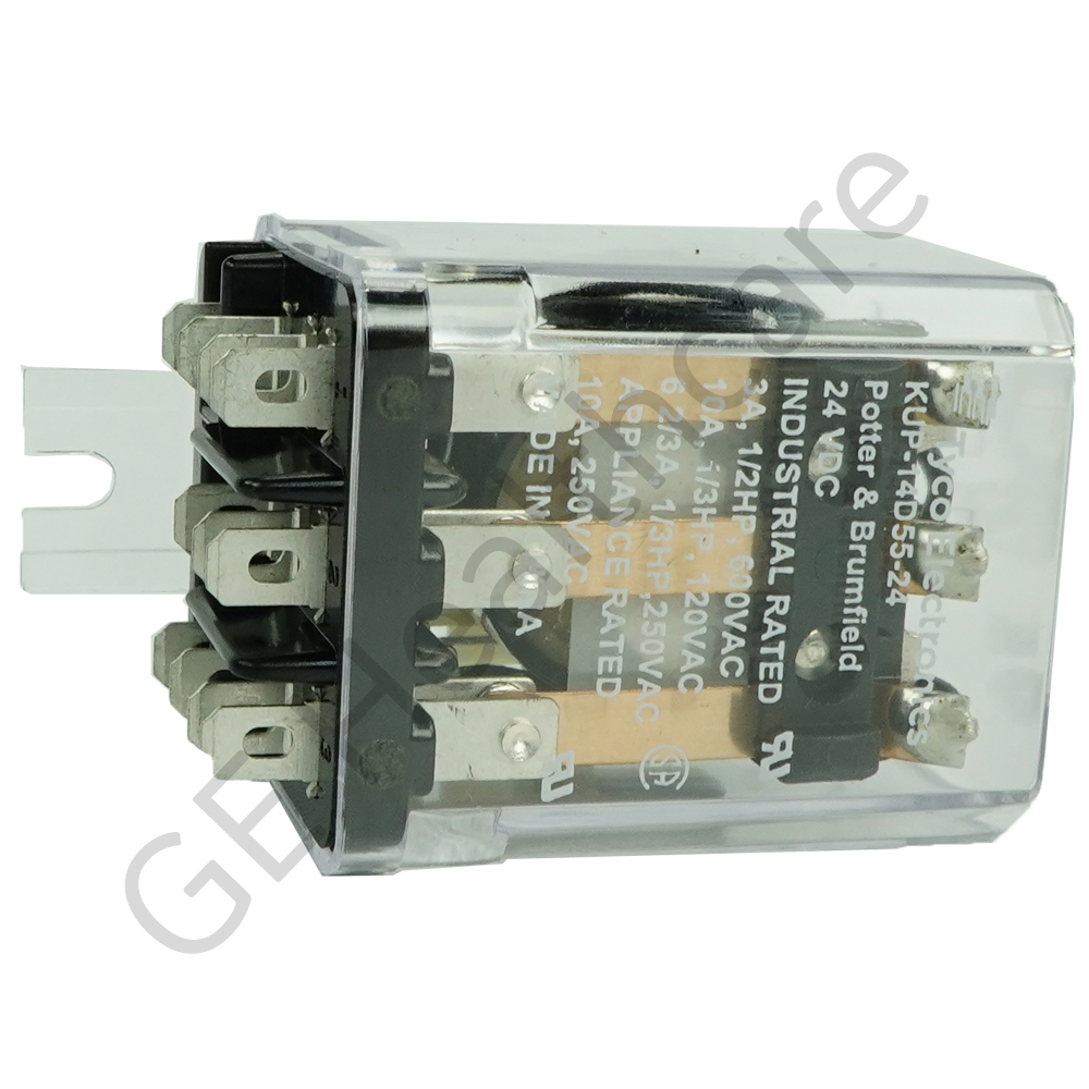 24V DC 3 Pole Double Throw (3PDT) Enclosed Relay